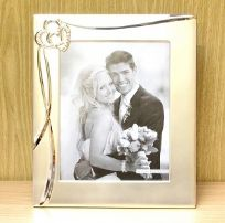 "3D Waves & Hearts Wedding Photo Frame 8"" x 10"""